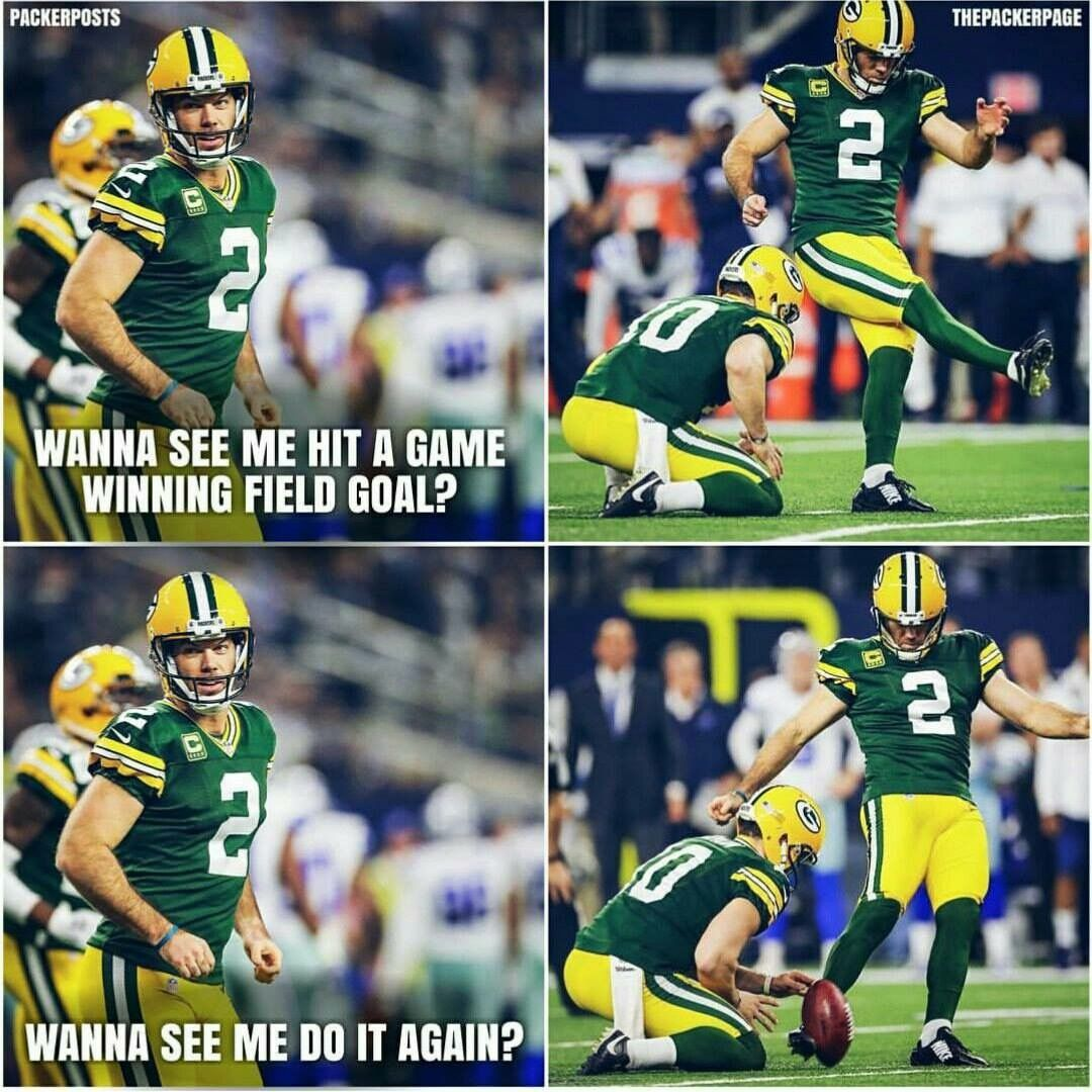 Mason Crosby Packers Vs Cowboys 2017 Playoffs With Images Green Bay Packers Funny Green Bay Packers Players Green Bay Packers Clothing