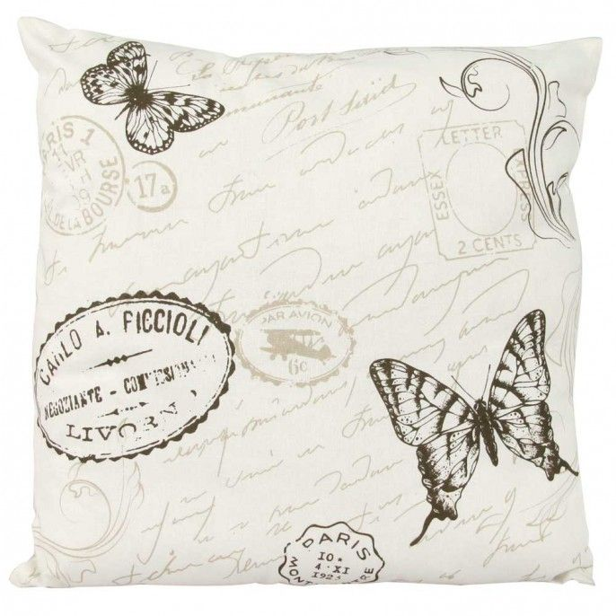 VINTAGE BUTTERFLY CUSHION - Home & Furniture | Poundstretcher ...