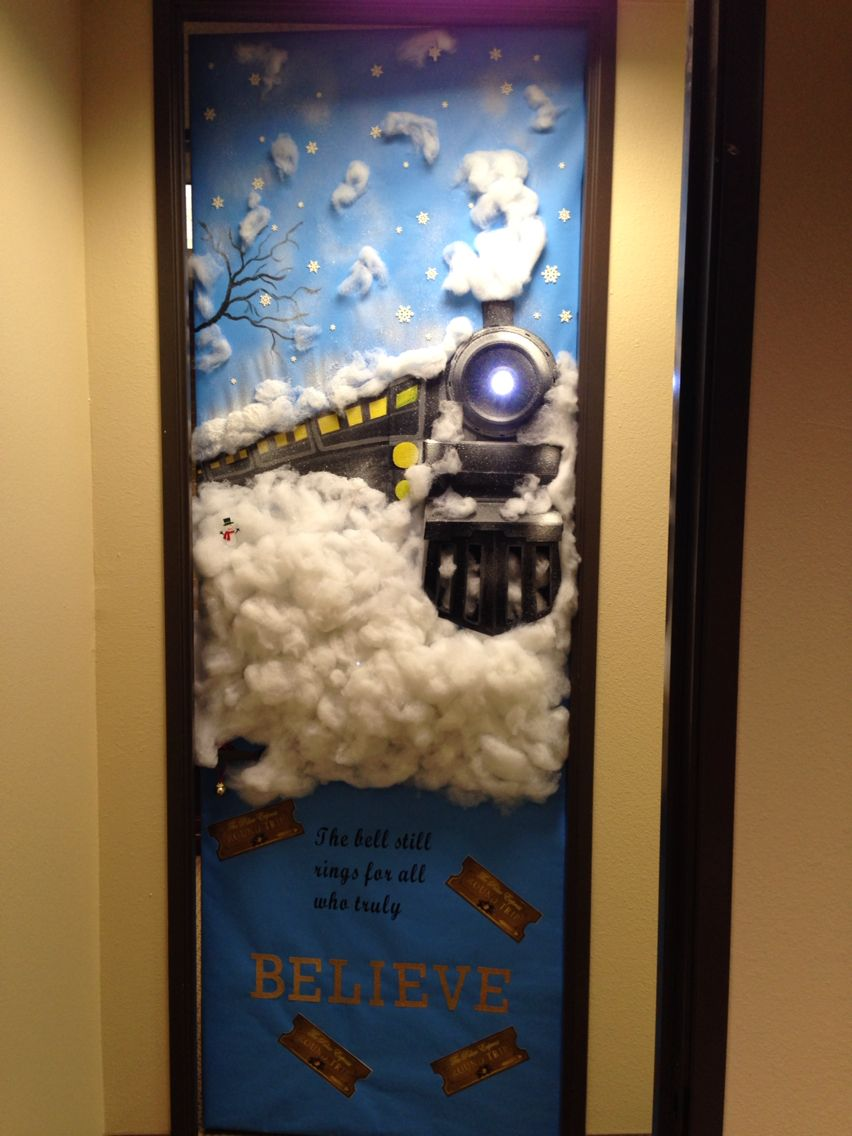Polar Express Classroom Decoration Ideas ~ My office door polar express asincleair pinterest
