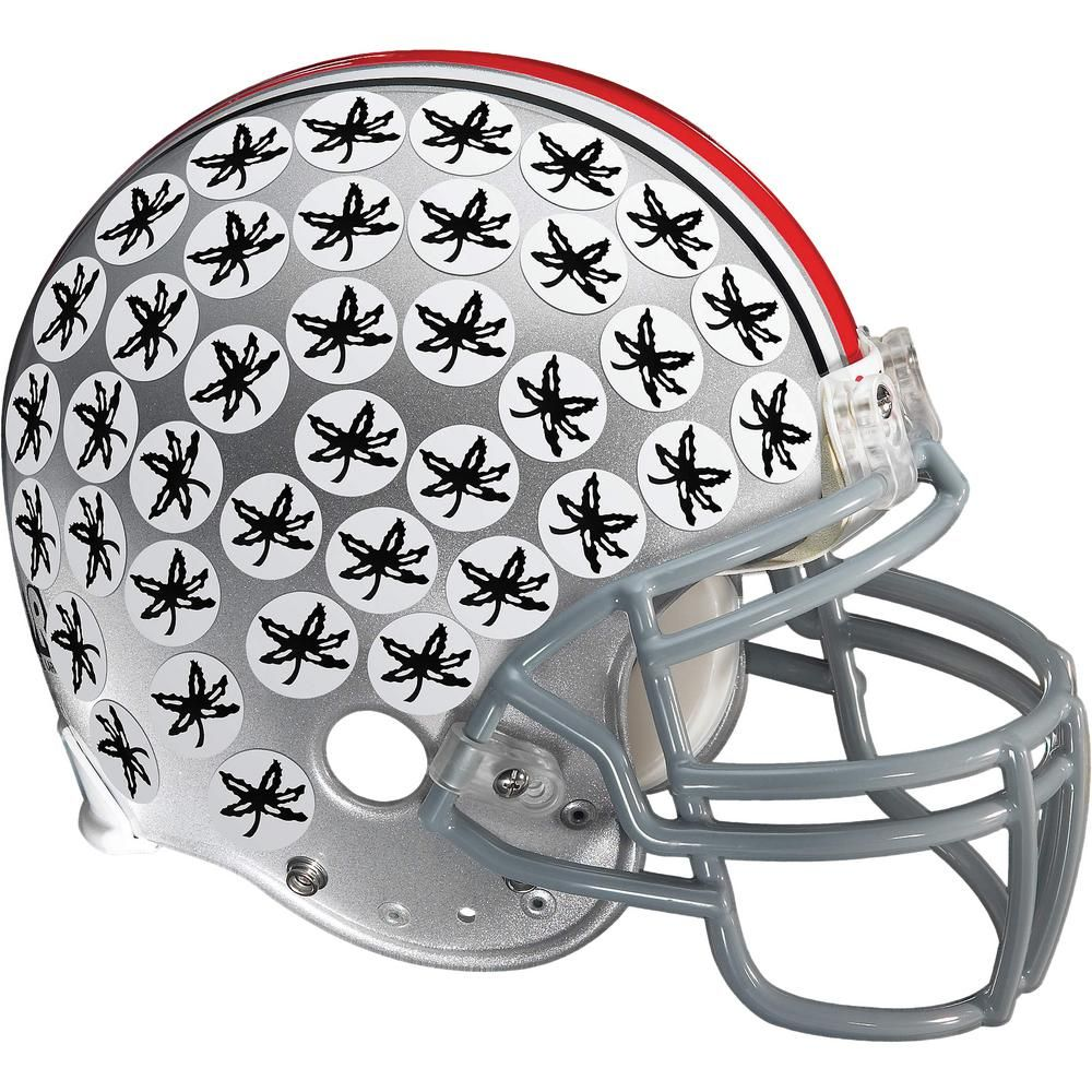 Fathead 47 in. H x 55 in. W Ohio State Buckeyes Buckeye Leaf Helmet Wall Mural 41-40168 - The Home Depot