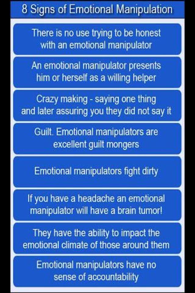 8 signs of an emotional manipulator
