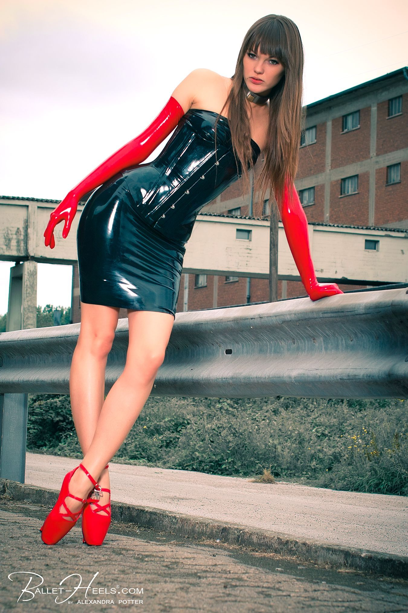 Latex Letter%0A Alexandra Potter  Ballet Heels  Fashion Models  Latex  Sexy Women  Pose   Curves  Platform  Models