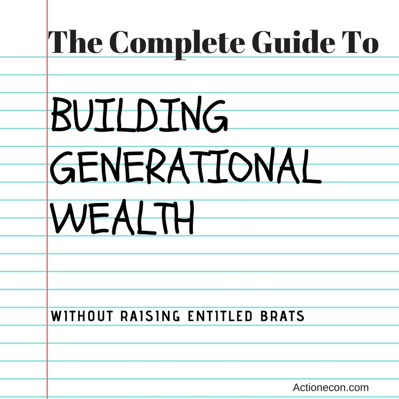 Building Generational Wealth is a difficult prospect. Here