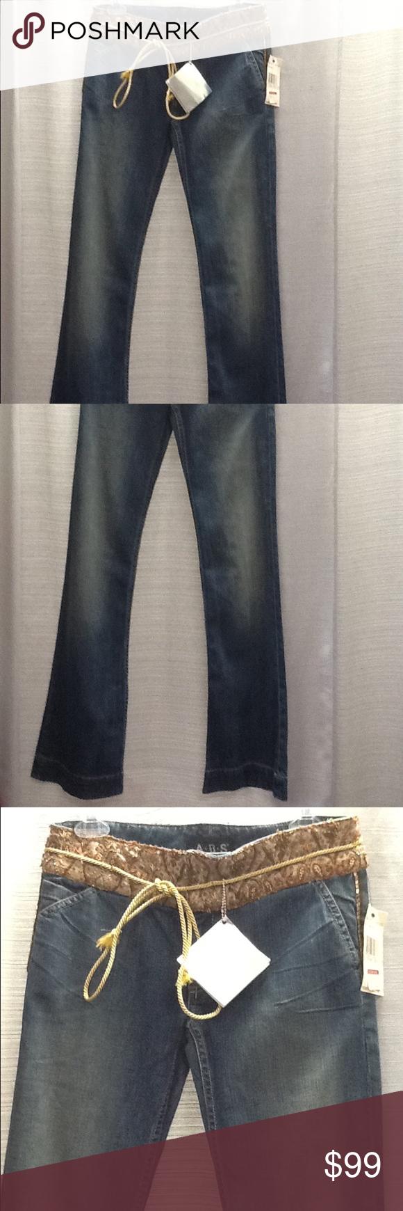 NWT ABS Bell Bottom Blue Jeans Sz 27 ABS Bell Bottom Blue Jeans Women Sz 27 Waist 30 Length 43 Inseam 35 ABS Allen Schwartz Jeans Flare & Wide Leg