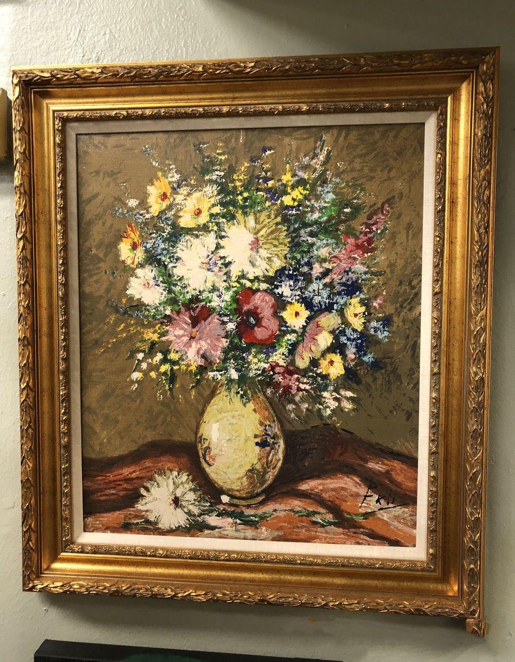 Framed Danish Painting, Florals $260 Bonrics Custom Framing and ...