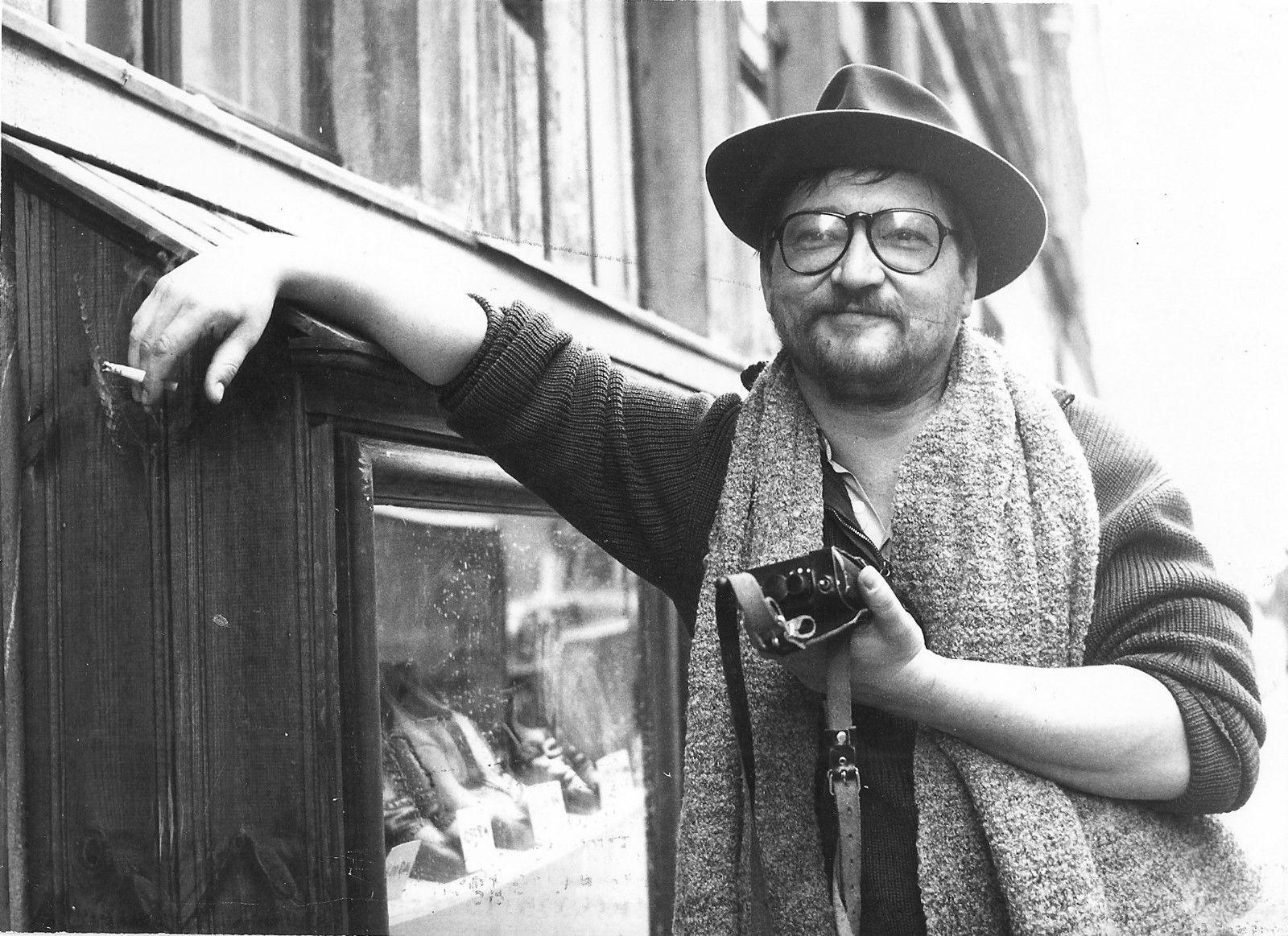 Photo Originale Rainer Werner Fassbinder Tournage Berlin Alexanderplatz Panama Hat Photo Berlin