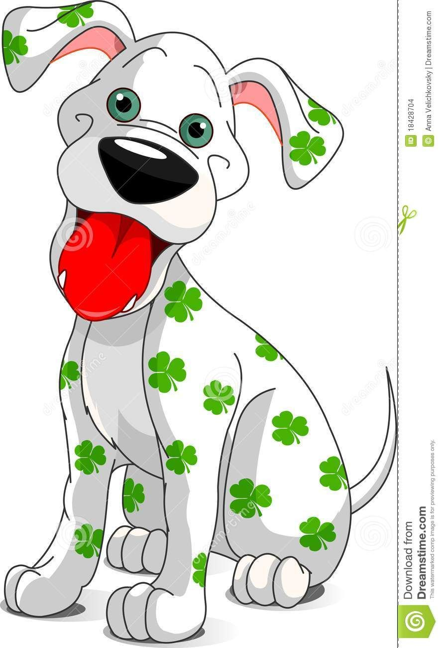 Cute Smiling St Patrick S Day Dog Stock Vector Illustration Of March Domestic 1842870 St Patricks Day Cards Saint Patricks Day Art St Patricks Day Clipart