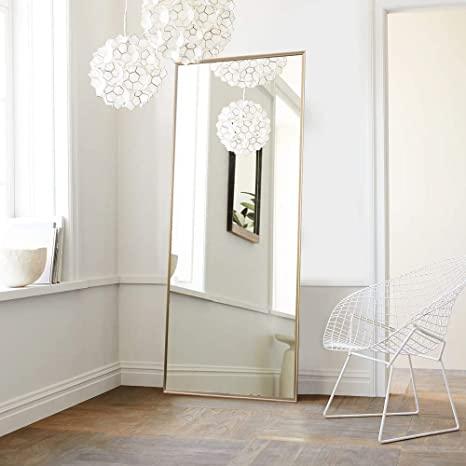 Neutype Full Length Mirror Floor Mirror With Standing Holder Bedroom Locker Room Standing Hanging Floor Mirror Dressing Mirror Living Room Mirrors