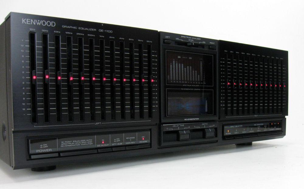 Kenwood Ge 1100 12 Band Equalizer Eq Spectrum Analyzer Reverb W Manual Superb Alta Fidelidad Equipo Sonido Musica Antigua