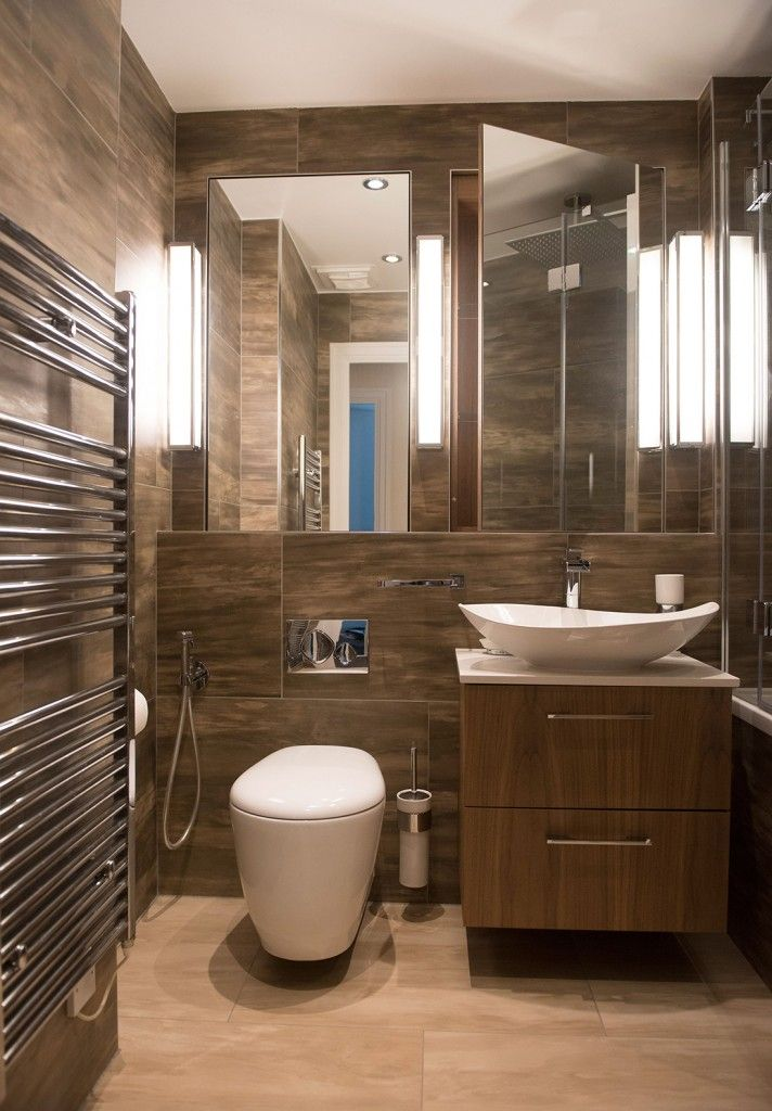 Brown textured bathroom