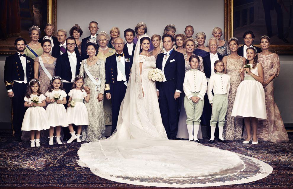 Princess Madeleine and Chris O'Neill's official wedding photographs with their families.