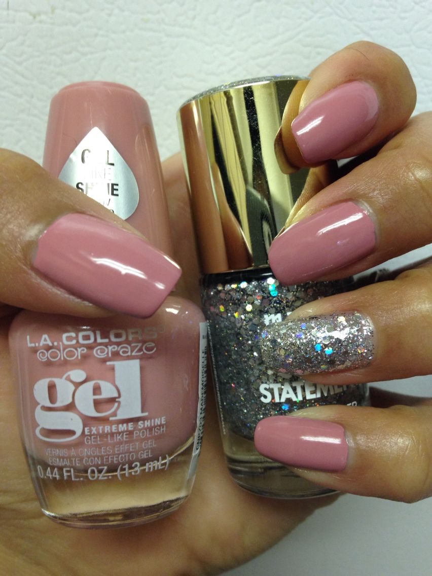 LA Colors Gel polish in the nude color Mademoiselle | Cute Nail ...