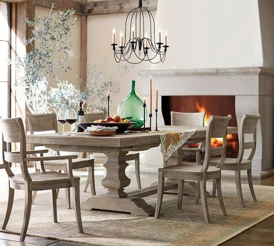 Banks Extending Dining Table Alfresco Brown Dining Room Table Extendable Dining Table Farmhouse Dining