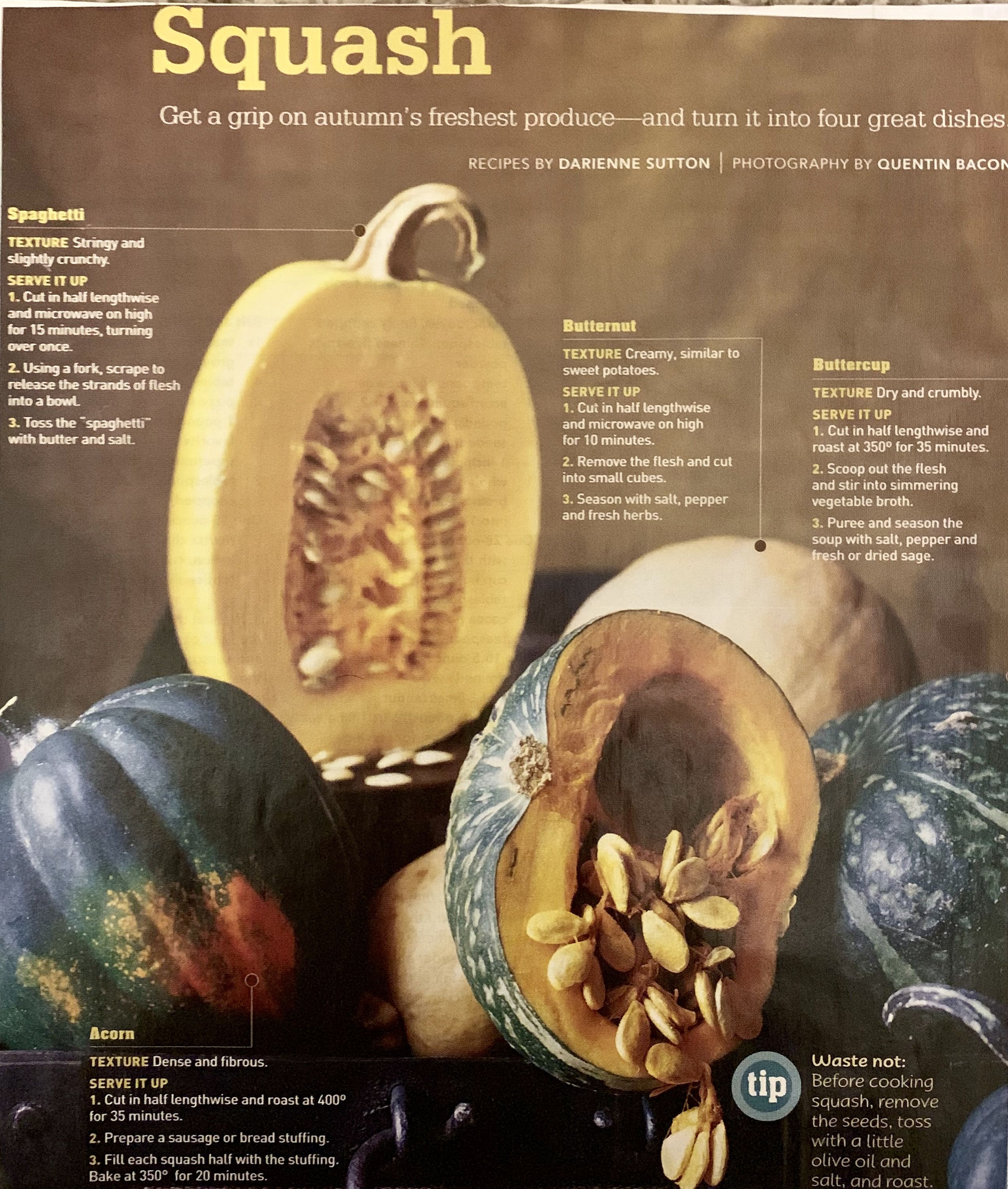 Squash Some Key Differences Between Spaghetti Butternut Butter Cup And Acorn Squashes Different Flavors And Ways To Pre Butternut Food Dishes Acorn Squash