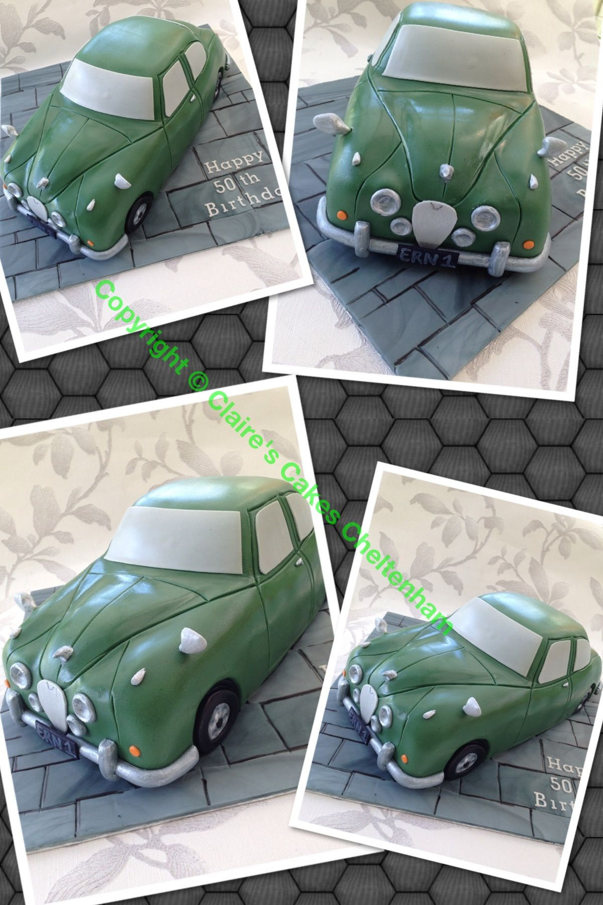 Classic Jaguar Shaped Car Cake Cake Construction Pinterest