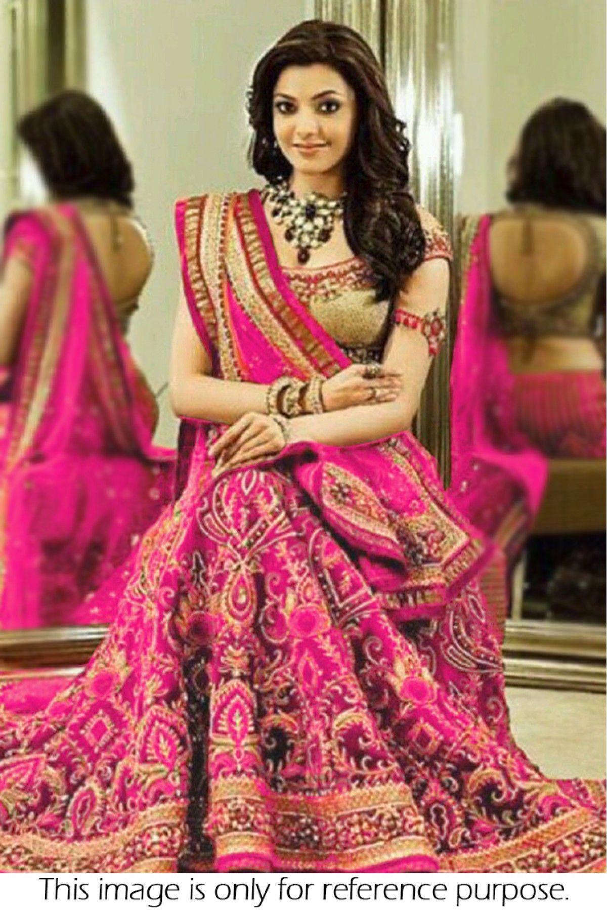 Bollywood Style Kajal Aggarwal Georgette Party Wear Lehenga Choli In ...