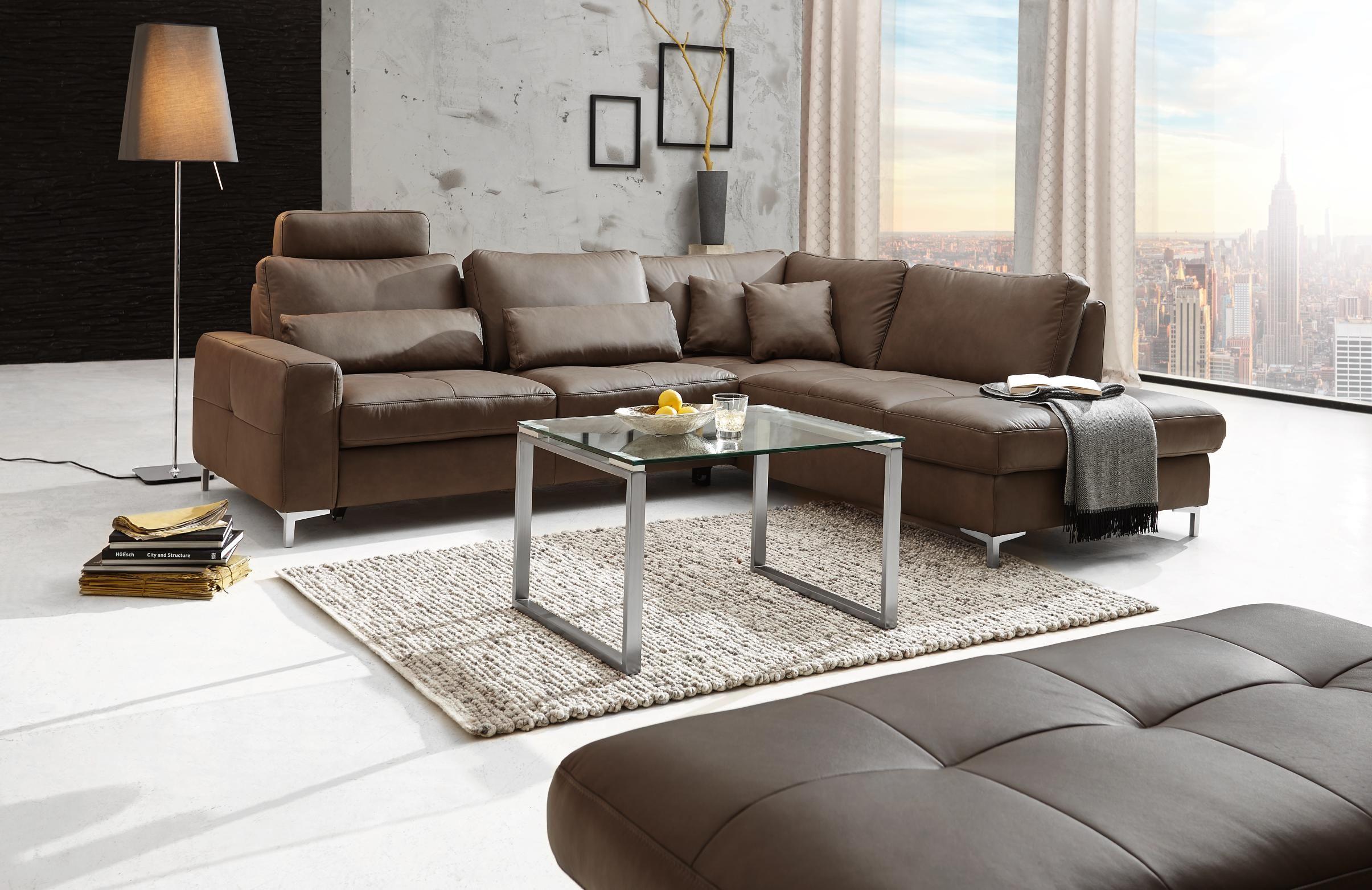 Wohnzimmer Dunkelbraunes Sofa Malik Moderner Stuhl Fur Das