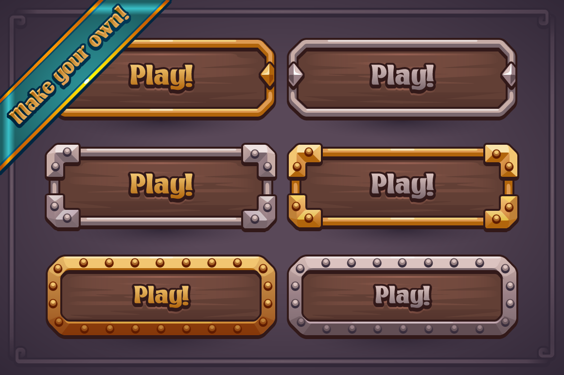 Fantasy Game Button Maker on Behance Игровой дизайн