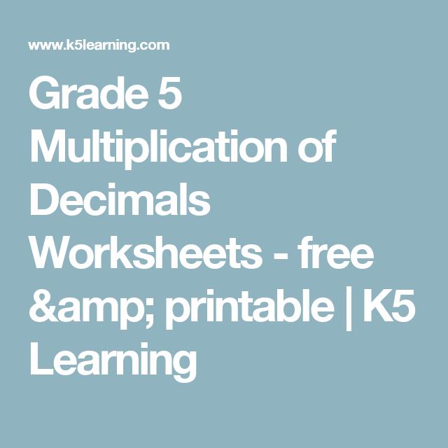 grade  multiplication of decimals worksheets  free  printable  grade  multiplication of decimals worksheets  free  printable  k  learning