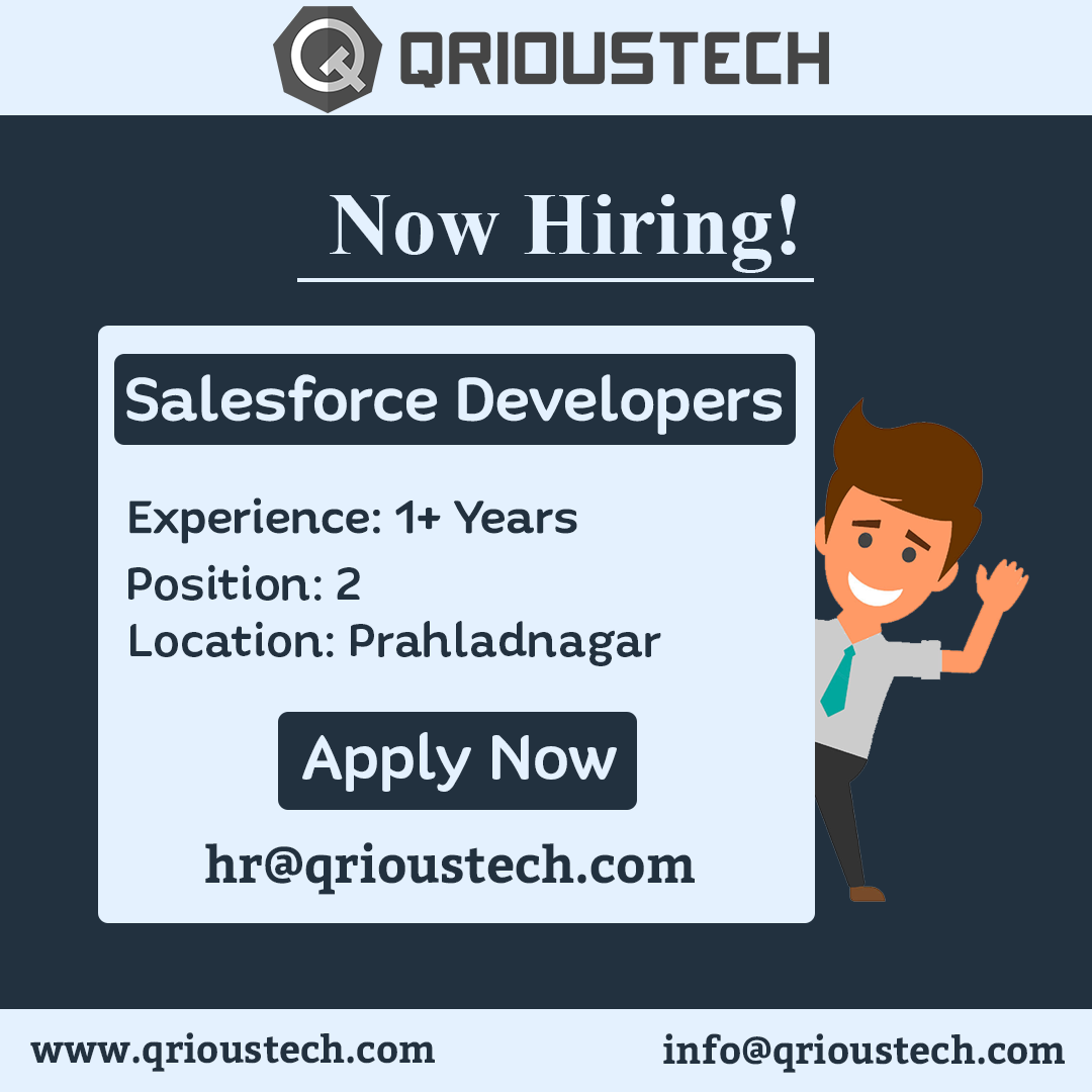 Hello everyone, We are hiring Salesforce Developers