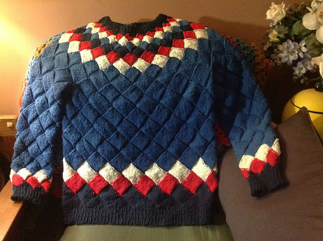 Ravelry Leahandthedragons Entrelac Sweater Knit Entrelac