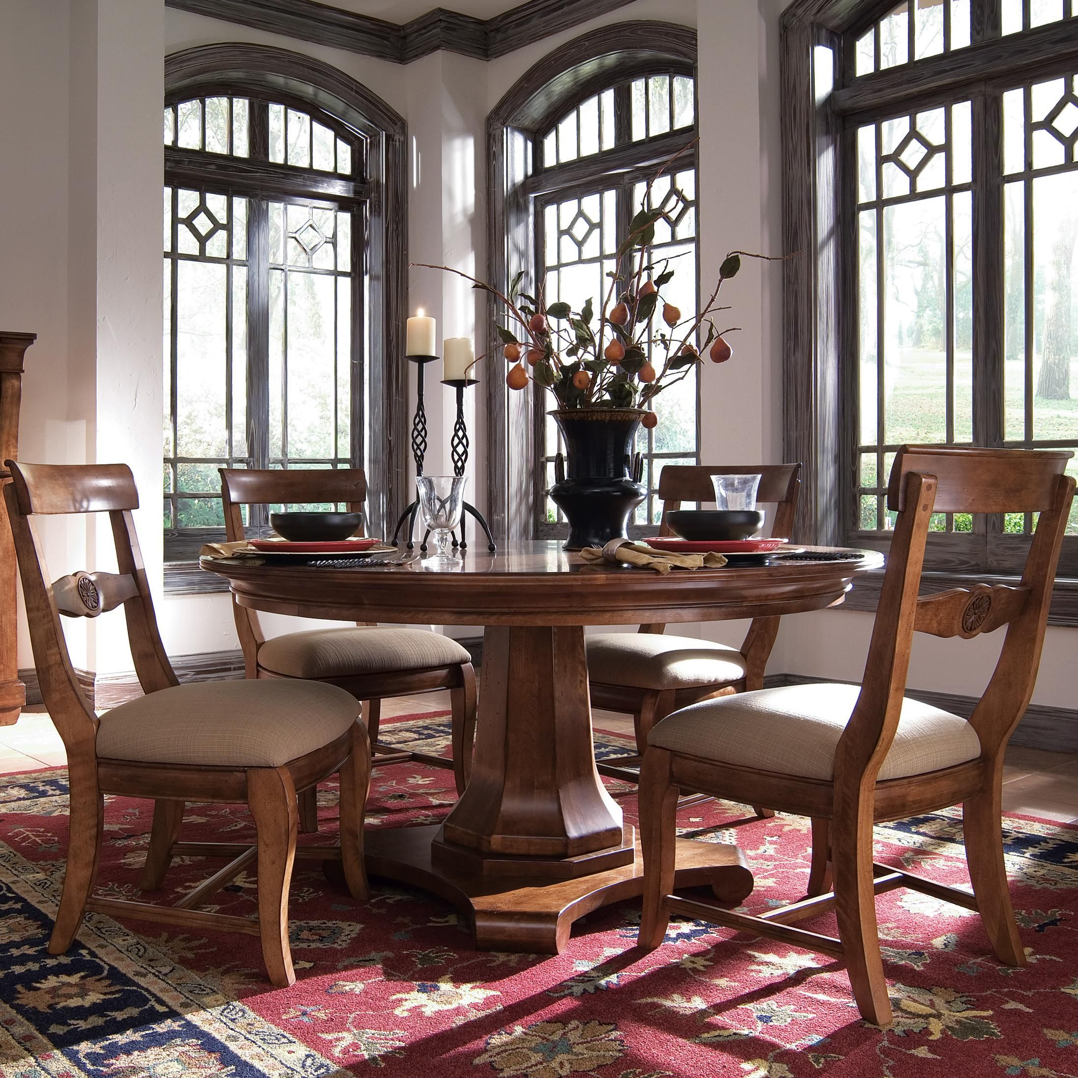 Tuscano 58 Round Dining Table By Kincaid Furniture Round Pedestal Dining Room Set Round Pedestal Dining Kincaid Furniture