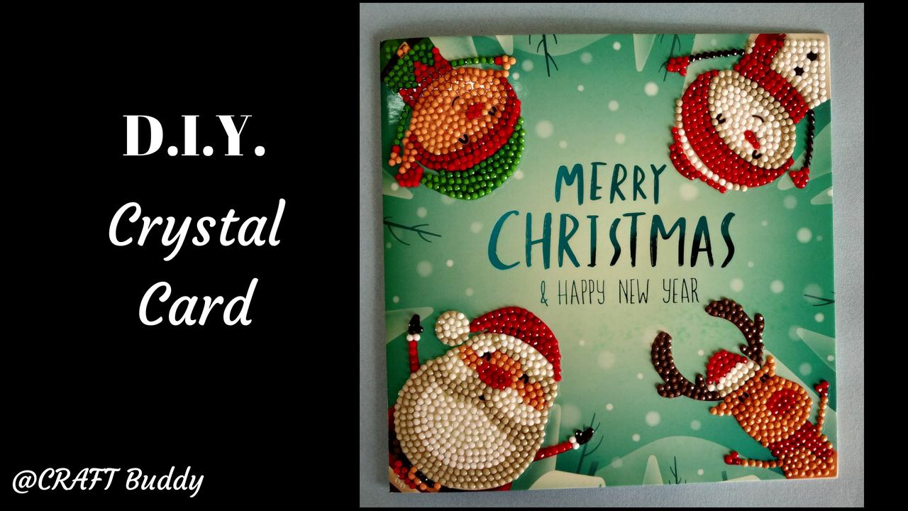 Diy Crystal Card Kit Craft Buddy Christmas Card Diy Crystals Art And Craft Kit Card Kit