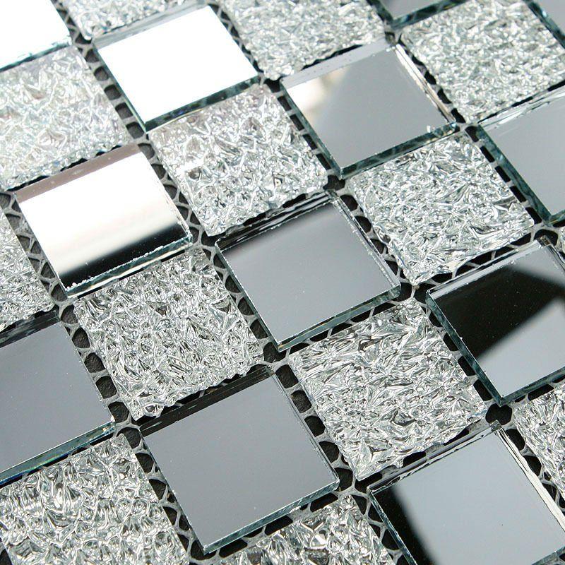 TST Crystal Glass Tiles Glass Mosaic Tile Sheets Inner Twinkling ...