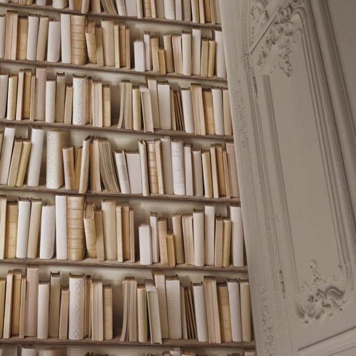 Did UK Designer Deborah Bowness Start The Bookshelf Printed Wallpaper Craze With Her Genuine Fake