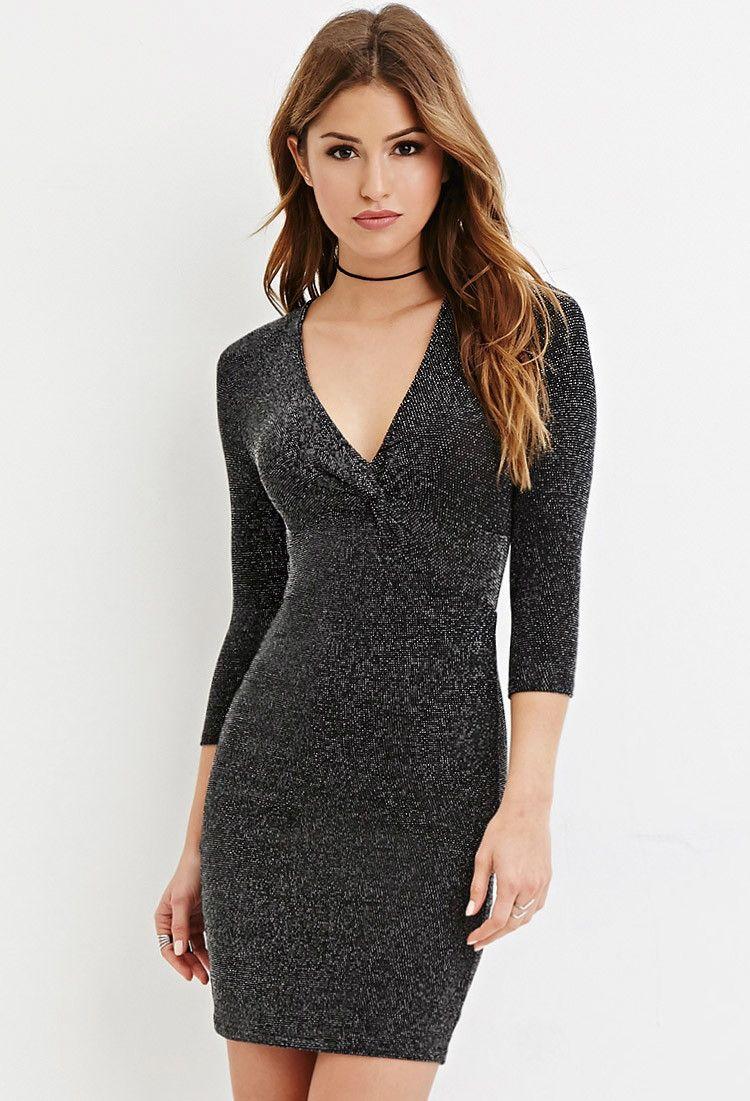 c9ac66a4b9aca1  24.90 Glitter Knit Bodycon Dress   Clothes ( )   Dresses, Bodycon ...
