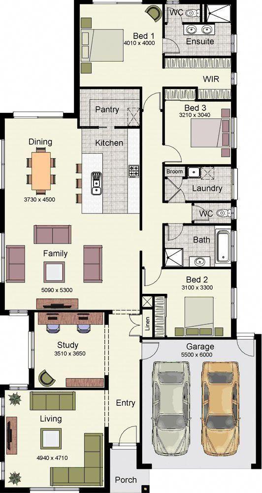 Zweistöckige modulare Häuser Pläne für 4 Schlafzimmer