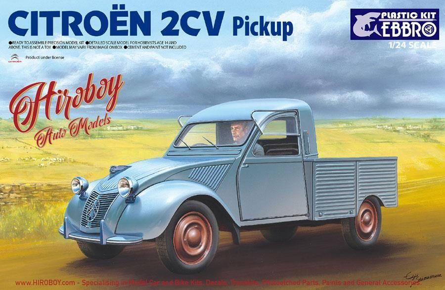 1 24 Citroen 2cv Pickup Ebr 25004 Ebbro Citroen 2cv Citroen Plastic Model Kits