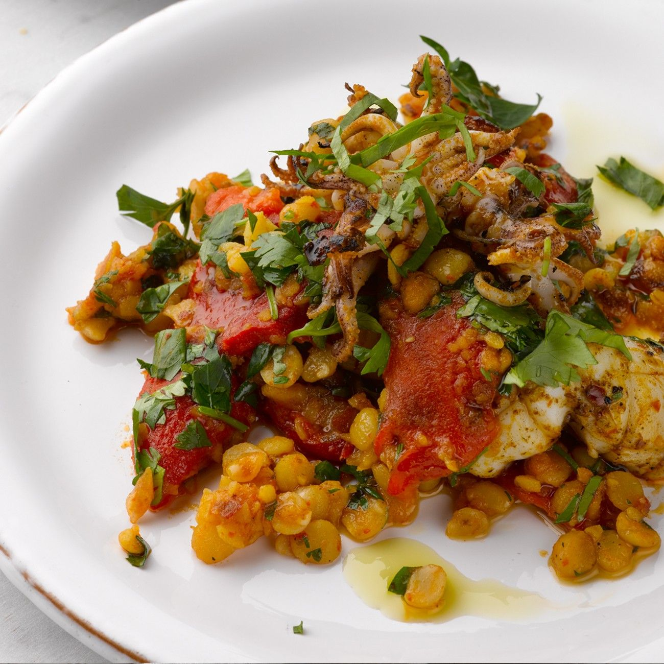 YOTAM OTTOLENGHI'S GRILLED SQUID with CHANA DAL & PRESERVED LEMON ...