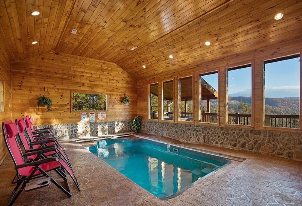 5 Reasons To Stay In Pigeon Forge Cabins With Indoor Pools In 2020 Indoor Pool Gatlinburg Cabins Indoor Pool Design