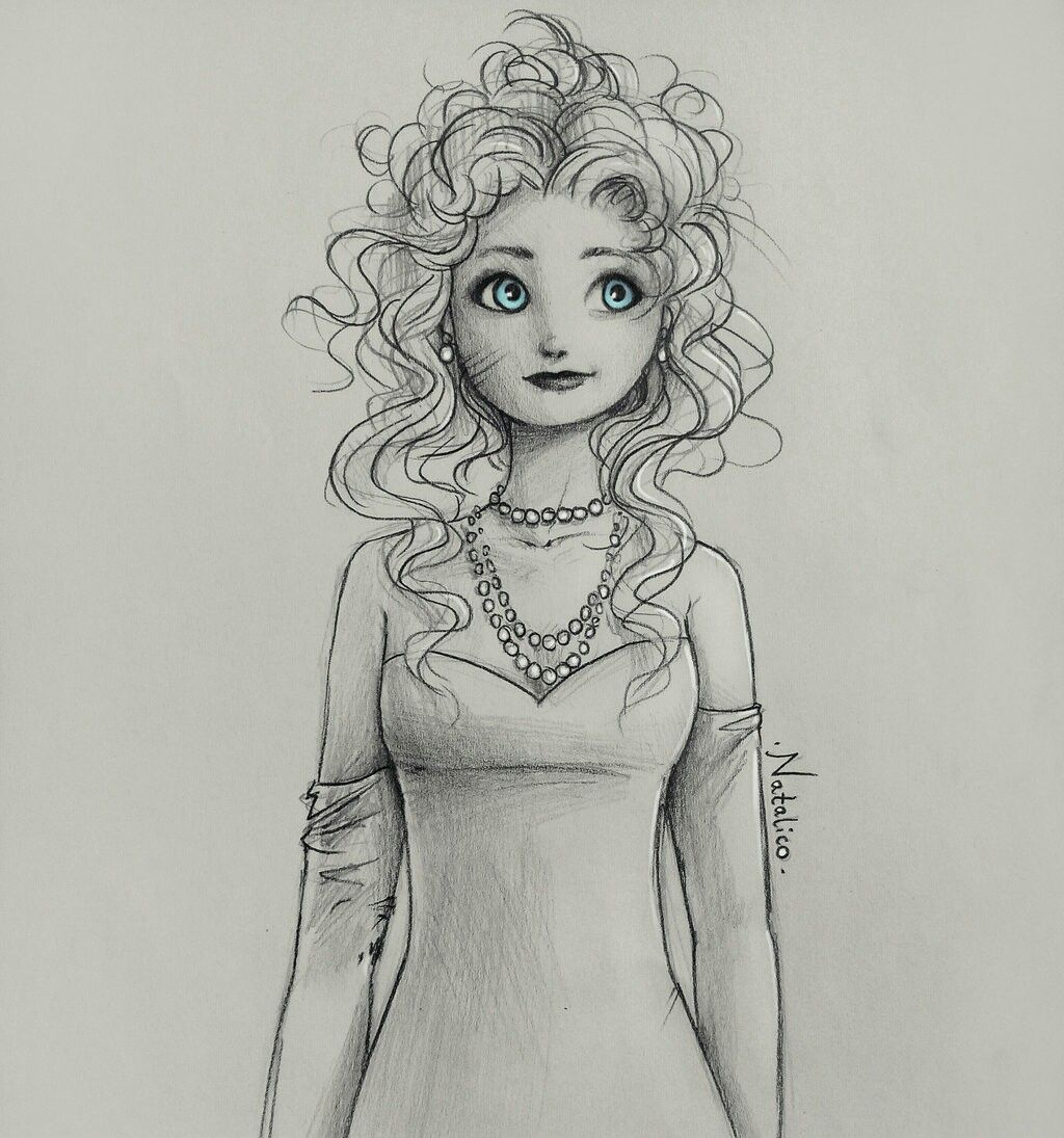 Merida being ladylike