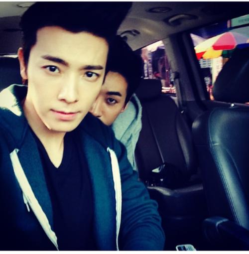donghae & eunhyuk | via donghae's instagram