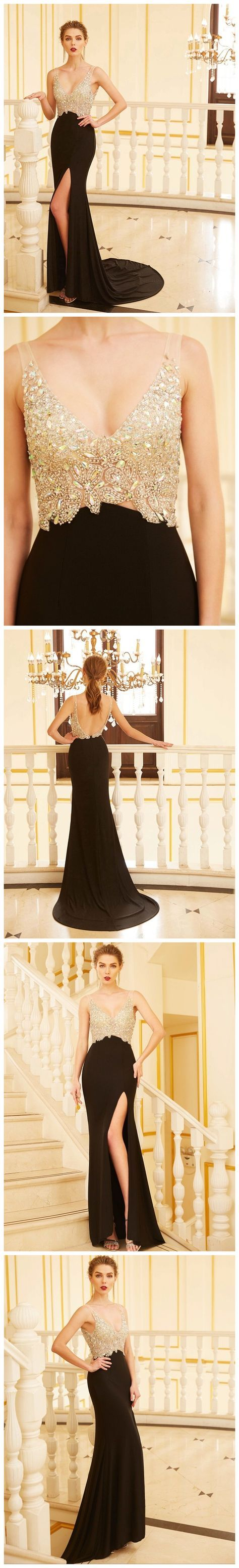 trumpetmermaid prom dresses long black chiffon prom dress