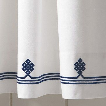 Navy gobi shower curtain traditional shower curtains serena lily