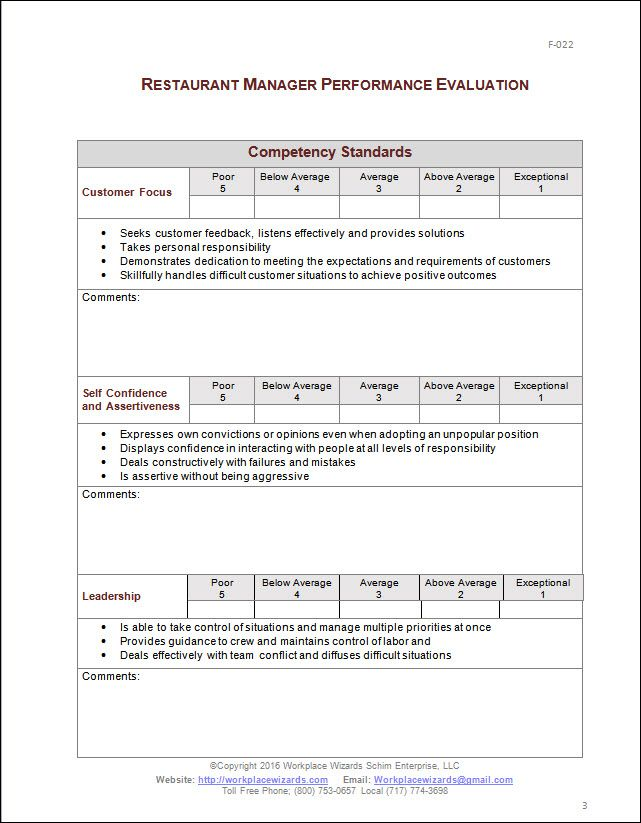 Sample Supervisor Evaluation What Is Performance Evaluation Form