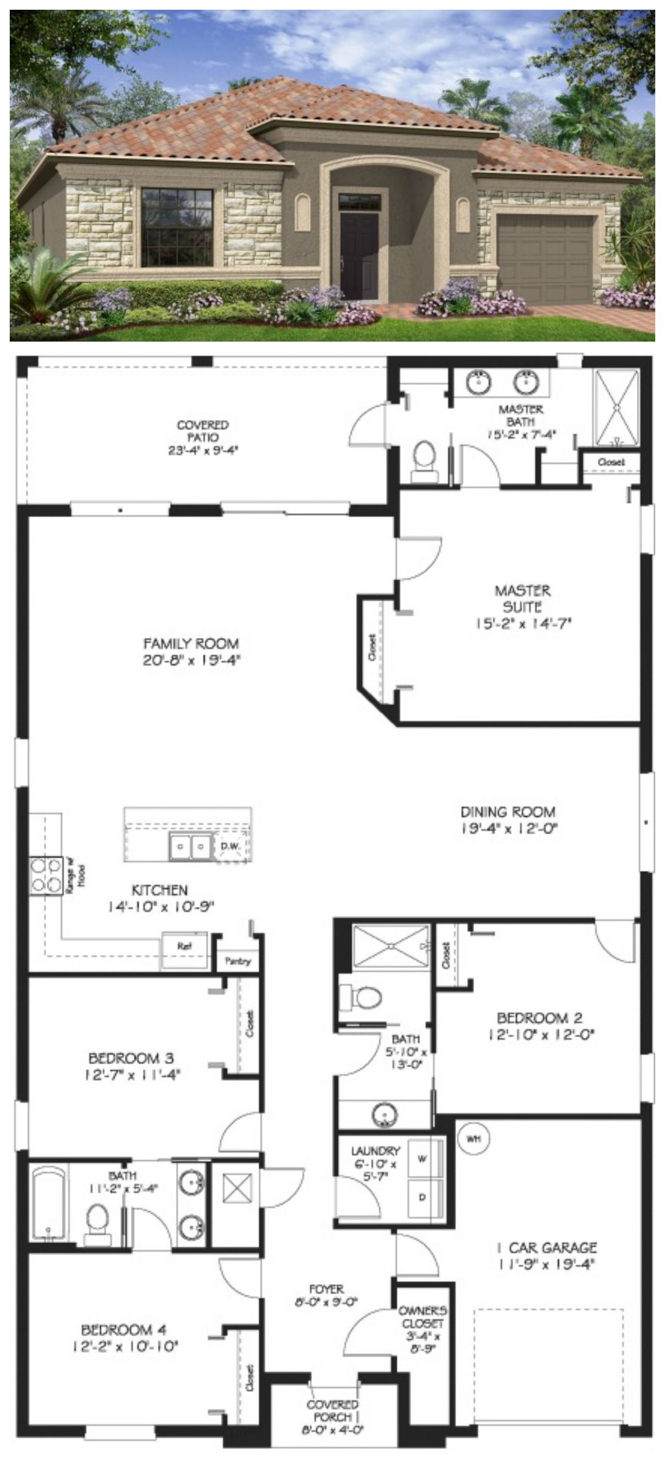 The Aruba at ChampionsGate 1 Story 4 Bedrooms 3 Baths