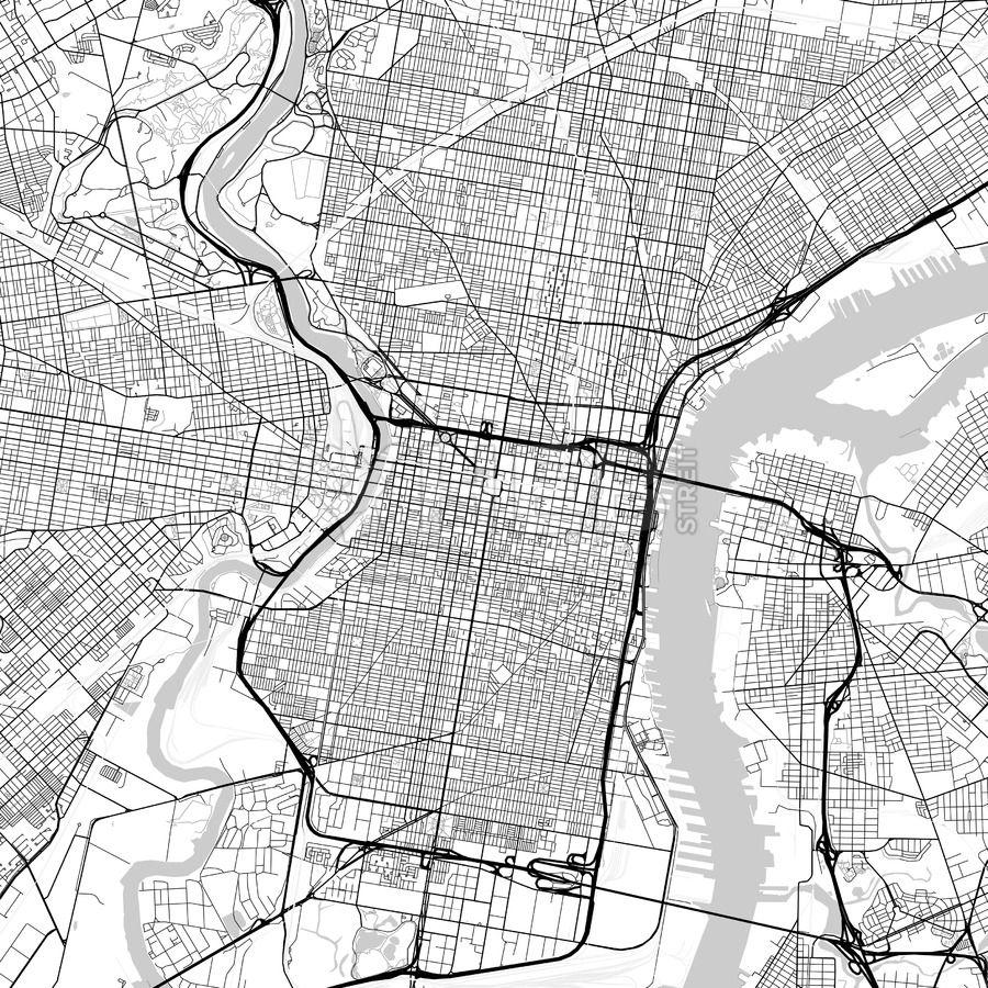 Map of Philadelphia, Pennsylvania | Maps Vector Downloads ...