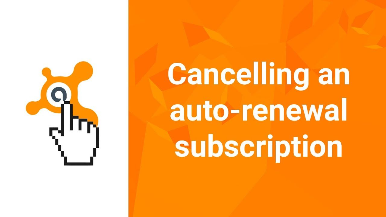 Cancel Avast Subscription With Images Renew Subscription