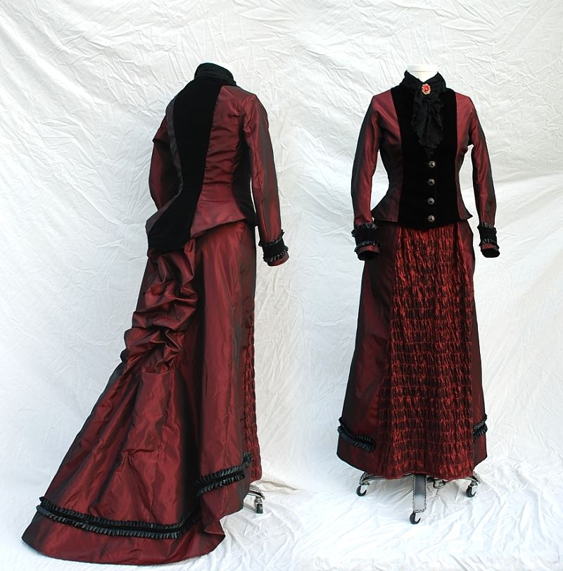 Steampunk Fashion Women Dresses Modern Victorian Cloth...