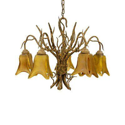 creative creations lighting. Delighful Creations Creative Creations A1275C 5 Light Shant FiveArm Downlight Chandelier  Rustic Wrought Iron  Chandelier Universe To Lighting