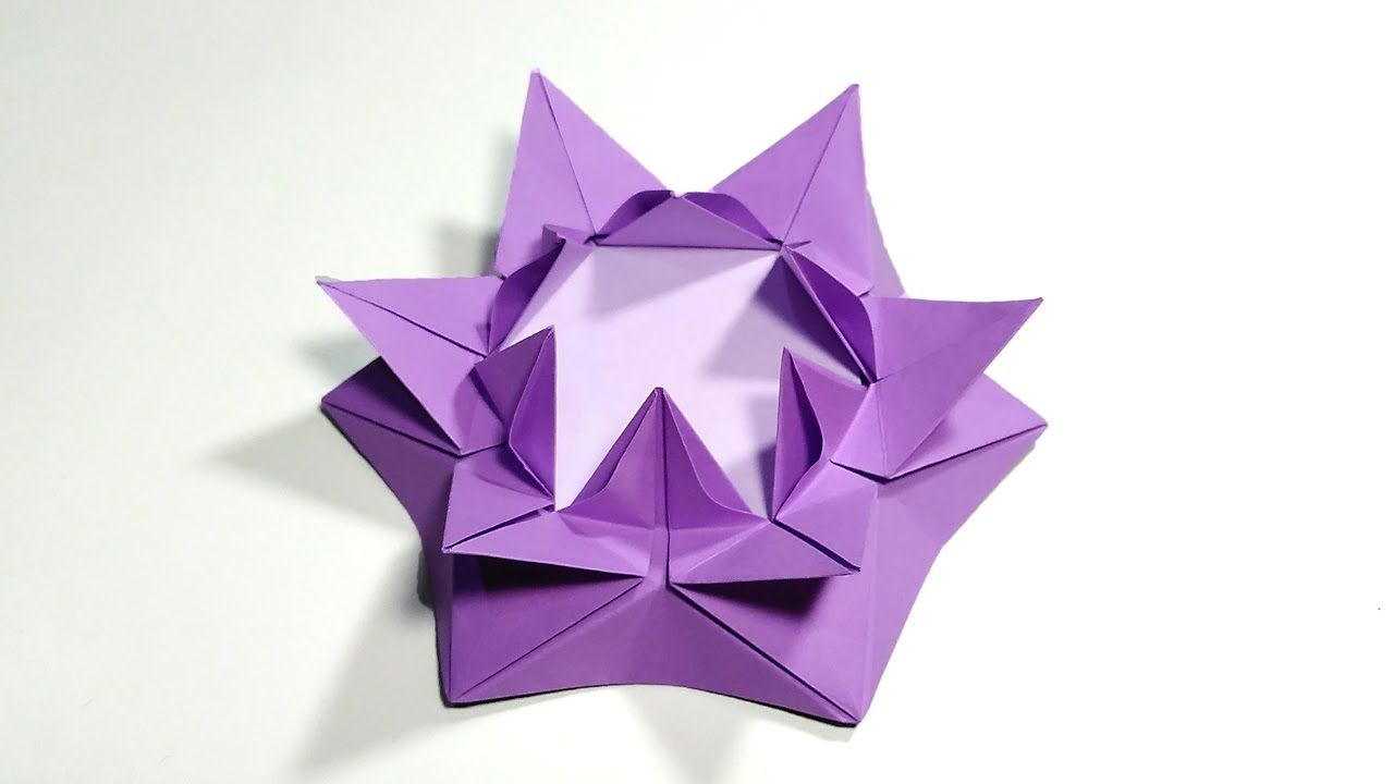Origami Easy - Origami Flower Tutorial - YouTube   720x1280
