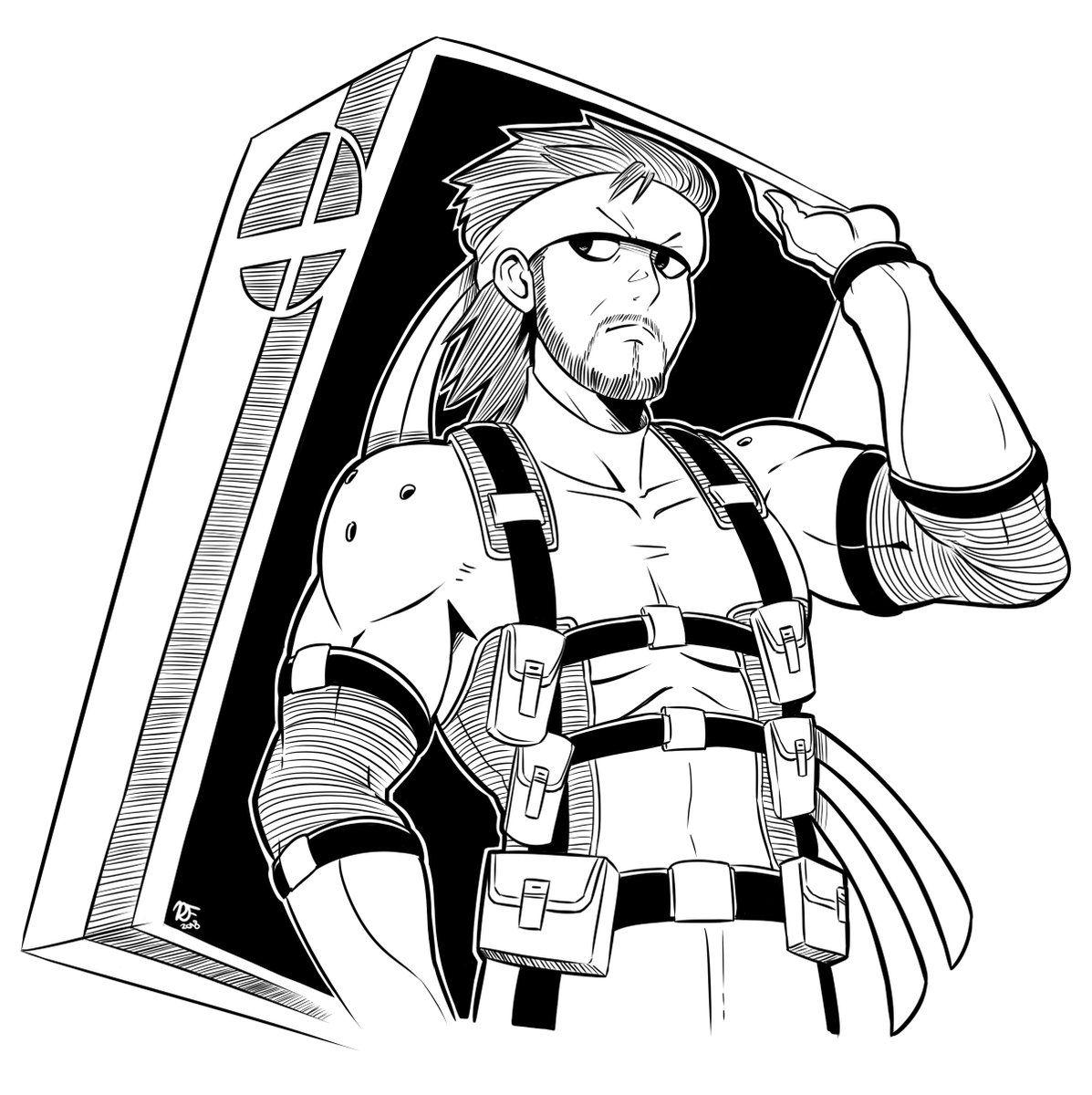 Russ on | Super smash bros, Snake metal gear, Metal gear