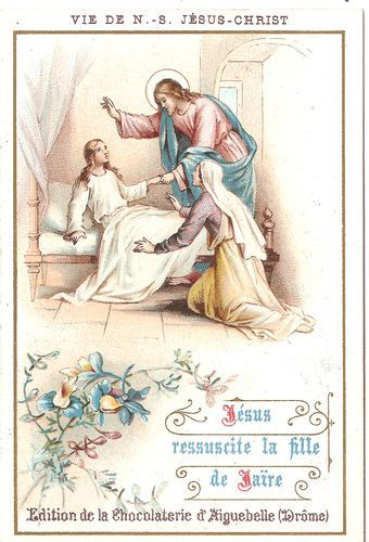 Antique Vintage French Holy Prayer Card Jesus St. John Communion items in The Paper Attic store on eBay!