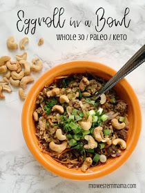 Eggroll in a Bowl is a quick, easy, delicious meal that is perfect for the whole family, and just happens to be Whole 30 and Paleo approved! #eggrollinabowl