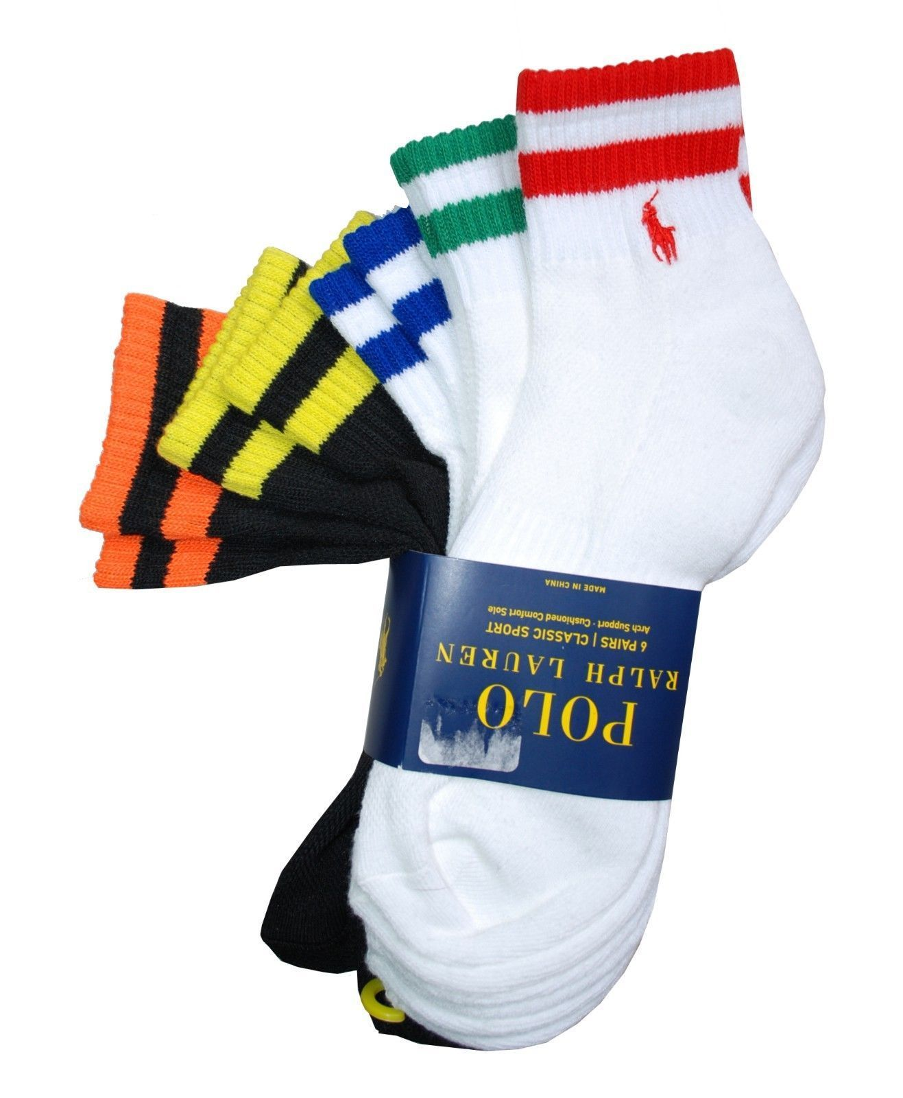 721379ba6b Polo Ralph Lauren Men's Black & White Quarter Socks 5 Pack in 2019 ...