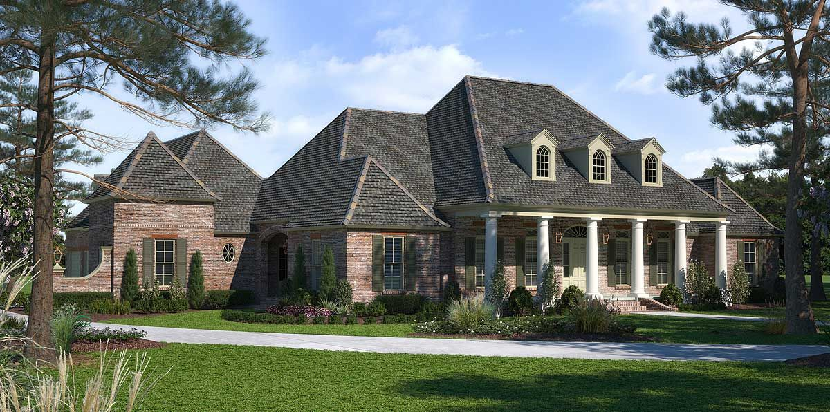 Plan 56410sm Luxurious Acadian House Plan With Optional Bonus Room In 2020 Craftsman House Plans Acadian House Plans French House Plans